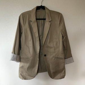 Mossimo Women's Tan Khaki Blazer size Medium